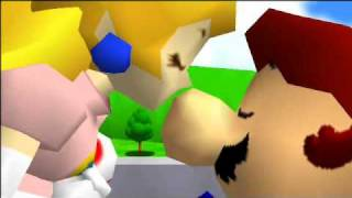 Super mario 64 ending messed up