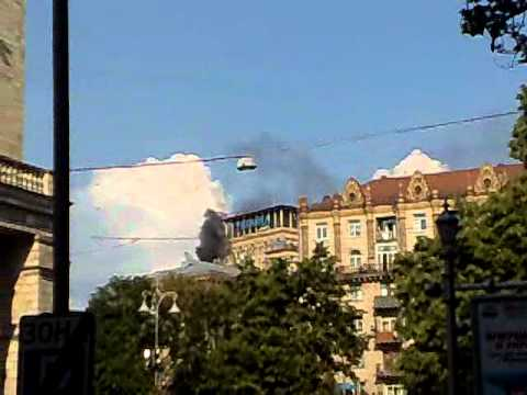 Hotel Ukraine on fire 3.6.2011