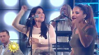 Linda Pira feat. Molly Sandén – Ey Gäri - Nyhetsmorgon (TV4)
