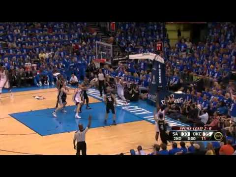 Oklahoma City Thunder vs. San Antonio Spurs Game 3 Recap West Finals (05/31/2012)