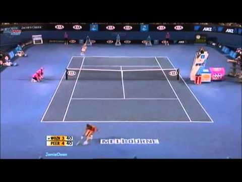 Caroline Wozniacki vs Shahar Peer 2010 AO Highlights