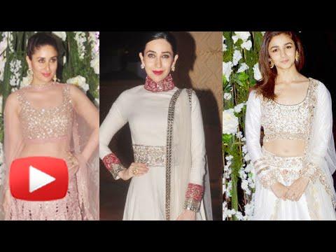 Alia Bhatt, Kareena Kapoor, Karisma Kapoor : Manish Malhotra's Niece's Sangeet Ceremony