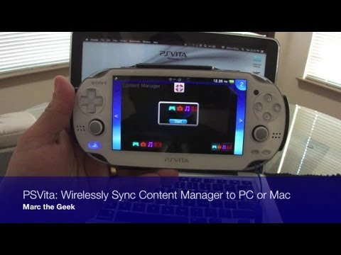 PSVita - Wirelessly Sync Content Manager to PC or Mac