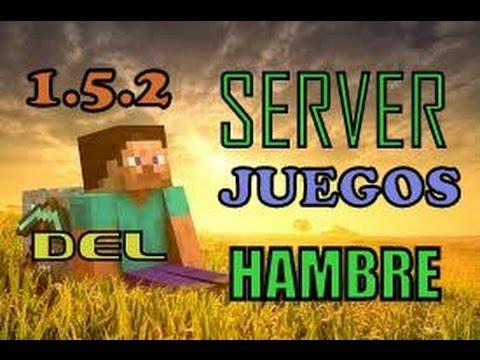 1.5.2│ SERVER JUEGOS DEL HAMBRE│Minecraft HUNGER GAMES│NO PREMIUM Y PREMIUM