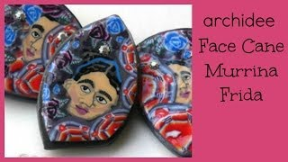 Tutorial | Polymer Clay | DIY Millefiori Face Cane | Murrina Viso | Frida Kahlo | Mexico Collection