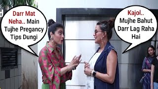 Kajol Sweet Gesture Towards Pregnant Neha Dhupia
