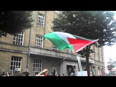 Palestine Protest outside BBC building, Belfast. 20/07/2014