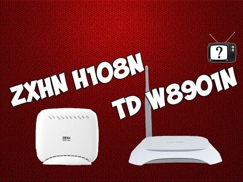 ZTE ZXHN H108N и TP-LINK TD-W8901n. Настройка интернет подключения от Укртелеком. Настройка Wifi