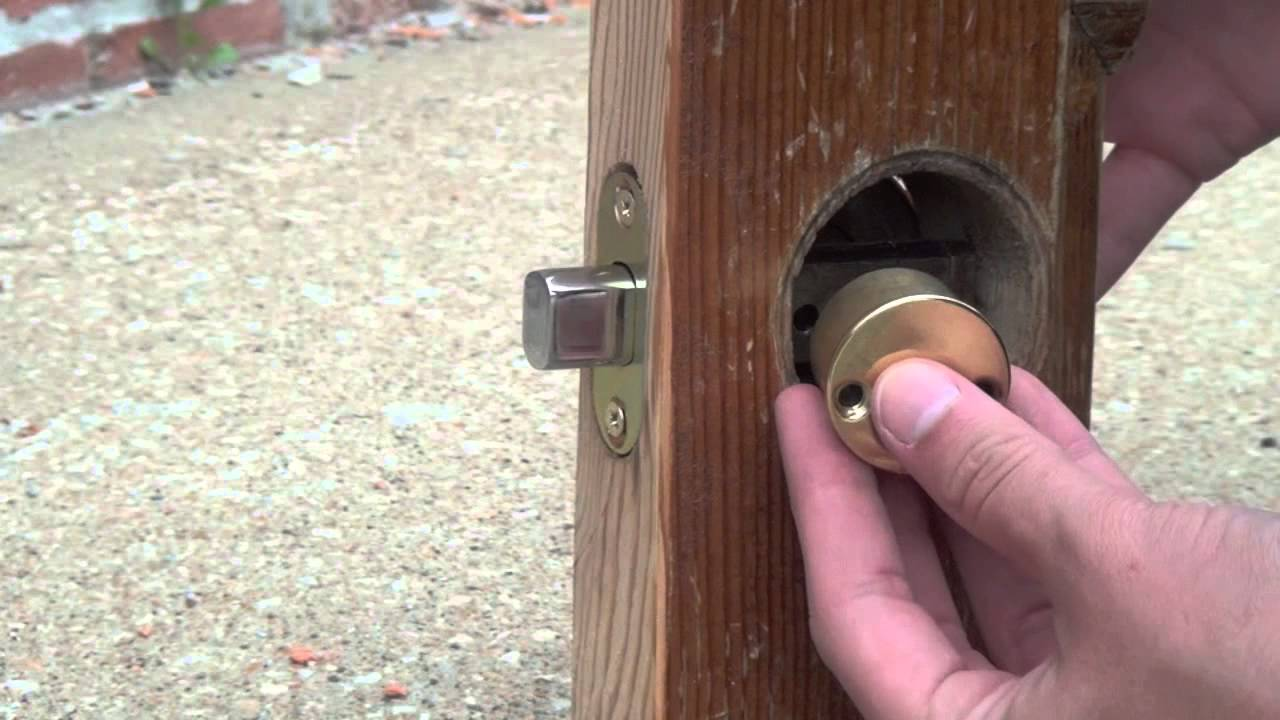 Installing A Double Cylinder Deadbolt With A Two Inch