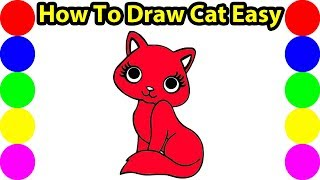 eDrawing Images How To Draw A Cute Cat Easy Painting Ideas For Kids Art Hub! !