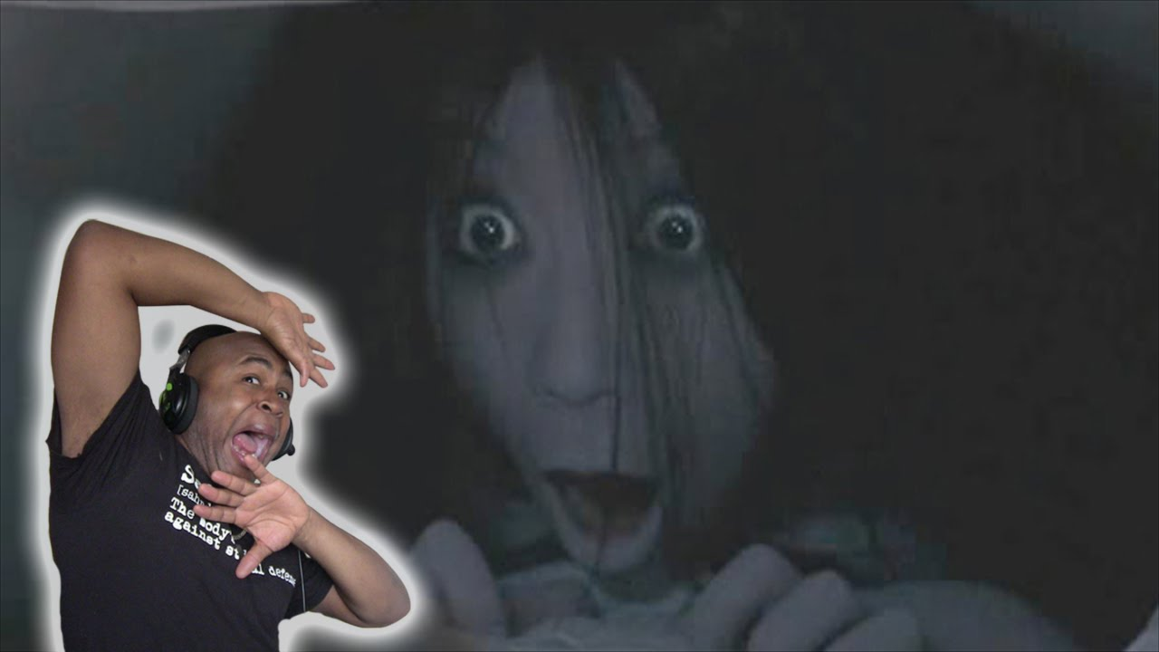 the pixilated version of the grudge girl   one after