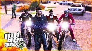GTA BIKER GANG! Biker Gang Wars, Riding & 5 Star Destruction in GTA 5 PC! (GTA 5 PC Gameplay)