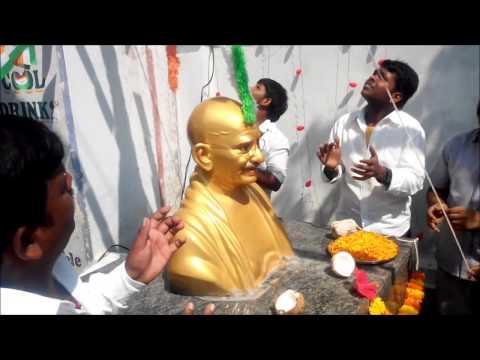 MAHATMA GANDHI STATUE OPENING VIDEO ON MASTAN NAGAR