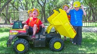 Tonka Ride On Mighty Dump Truck for Kids - Unboxing, Review and Riding