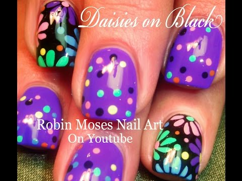 Nail Art | DIY Easy Flower Nail Art | Polka dot flower nail design