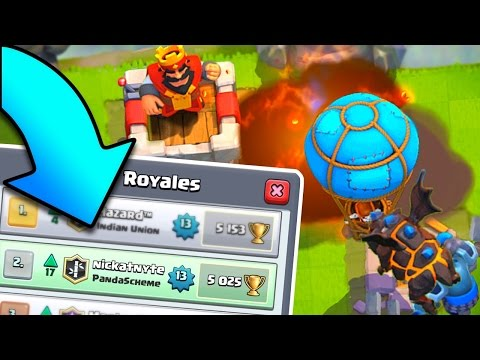 2ND PLACE! - MAX LAVA HOUND DECK - Clash Royale