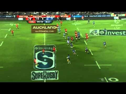 Super Rugby 2011 Highlights - Blues v Crusaders in under 2 minutes