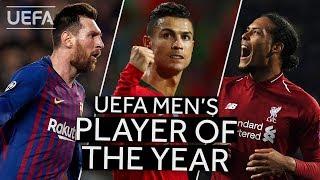 MESSI, RONALDO, VAN DIJK UEFA Men39s Player Of The Year 201819 SHORTLIST