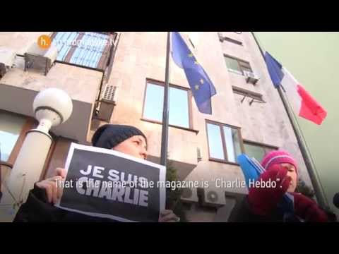 """Charlie – it's me"": the demonstration of solidarity in front of the French Embassy in Kyiv"