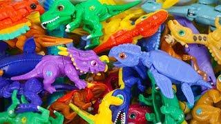 Dino Mecard New Tiny Saur  Einiosaurus and  Archelon Found! Dinosaur Toys for Kids | ToyMoon