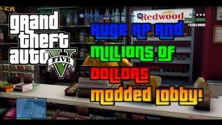 [PS3] GTA 5 Modded Lobby, HUGE RP/XP and INFINITE MONEY!! (GTA 5 PS3)