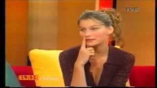 SUPERMODEL LAETITIA CASTA very young 19 years old interview in 1998