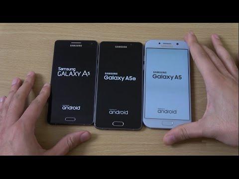Samsung Galaxy A5 2017 vs A5 2016 vs A5 2015 - Speed Test!