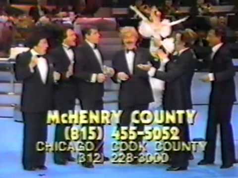 Jerry Lewis Telethon - Vegas Celebrity Musical Number & Phone Panel