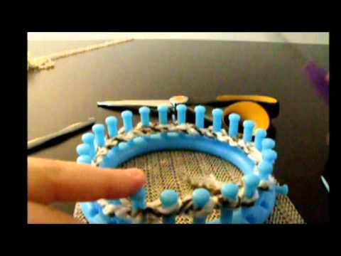 Easy Mittens on a loom part 1