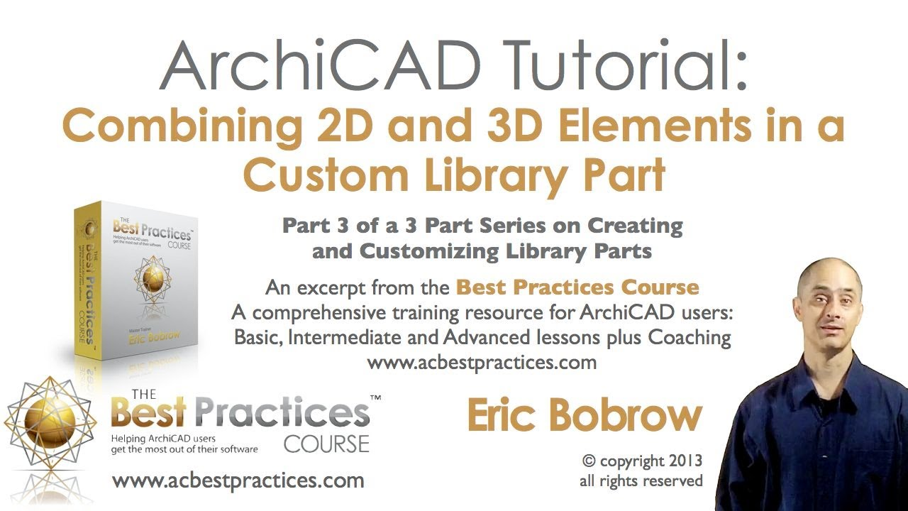 archicad tutorial custom objects pt 3 combine 2d 3d interactive schedule subtypes youtube. Black Bedroom Furniture Sets. Home Design Ideas