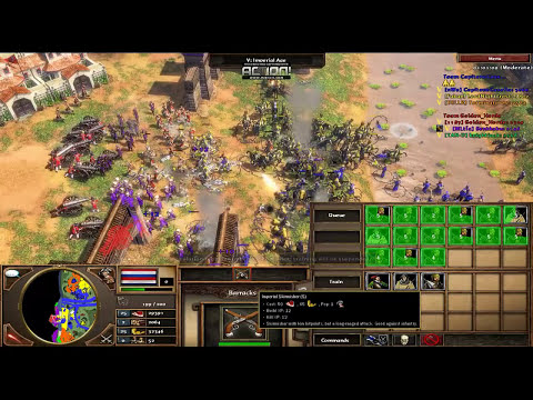 Age Of Empires 3 Dutch Rush Strategy Game play. Orinoco Map 3 vs 3