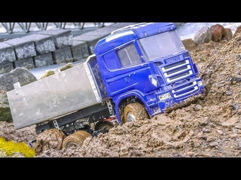 AWESOME RC Trucks! Truck stuck! Truck action!