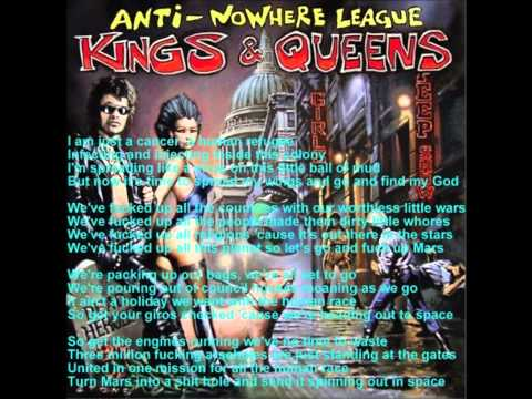 Anti-nowhere League - Mission To Mars