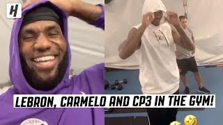 LeBron Clowns Hoodies During 5 AM Workout With Carmelo and Chris Paul!