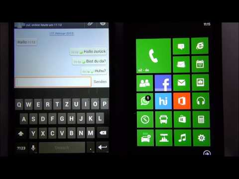 WhatsApp on Android & Windows Phone 8 (Google Nexus 4 & Nokia Lumia 620) German / Deutsch