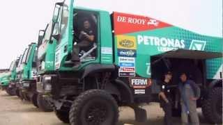 Dakar 2013 I camion IVECO al parco chiuso