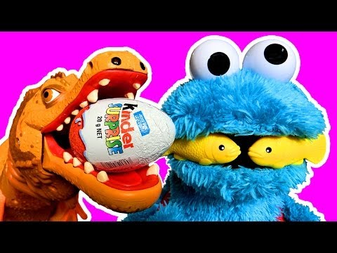 Dinosaur Train Old Spinosaurus Cookie Monster Extreme Eating Crashing Smashing Toy Review