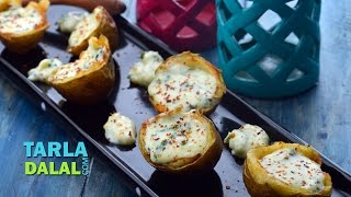 Stuffed Potato Skins by Tarla Dalal