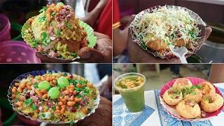 DELHI CHAAT   BHEL PURI   PANI PURI   BHEL KACHORI   DAHI PURI - Indian Street Food Compilation