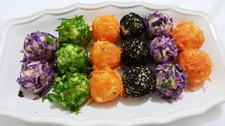 İkramlık Renkli Patates Topları tarifi