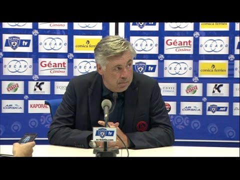 image vido  Confrence de presse SC Bastia - Paris Saint-Germain (0-4)