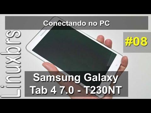 Samsung Galaxy Tab 4 7.0 - Conectando ao PC e copiando arquivos - PT-BR - Brasil