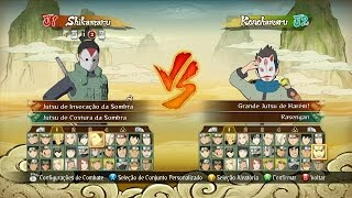 Naruto Ninja STORM Revolution™ Menu Seleção de Personagem all Character Selection Roster! Unlocked