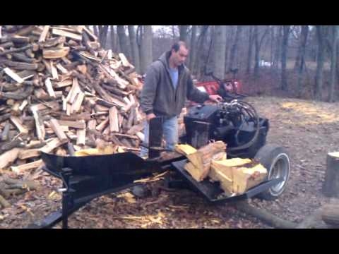 Home made 60+ton log splitter/sliding lift arm!