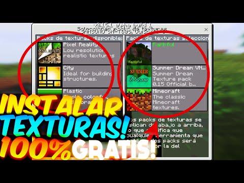 COMO INSTALAR TEXTURAS Y SKINS! GRATIS Minecraft PE 1.2 TEXTURE PACKS GRATIS