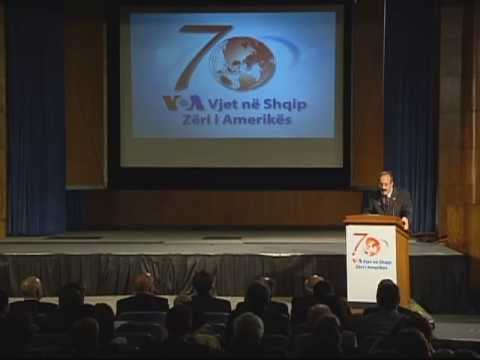 Congressman Eliot L. Engel (D-NY) at VOA Albanian Service's 70th Anniversary