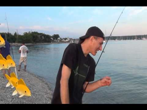 Long island sound early season beach porgy fishing youtube for Long island sound fishing report