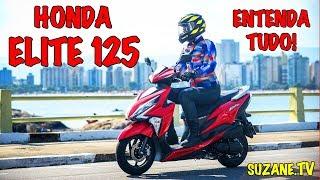 Honda Elite 125 2019 Apresentação Teste Review por Suzane Carvalho
