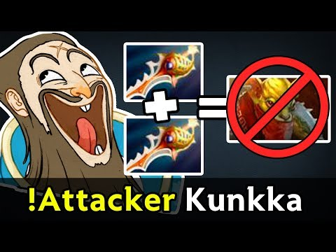 !Attacker Rapiers Kunkka — RIP Bounty Hunter no need detection