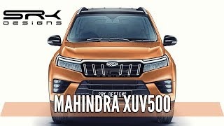 Mahindra XUV500 Facelift -  Rendering - Making Video | SRK Designs